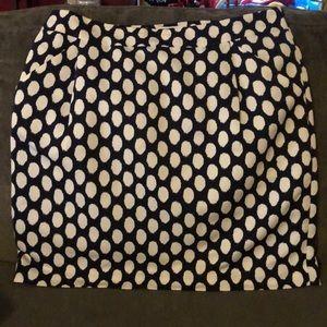 LOFT Skirts - Loft navy with cream dots